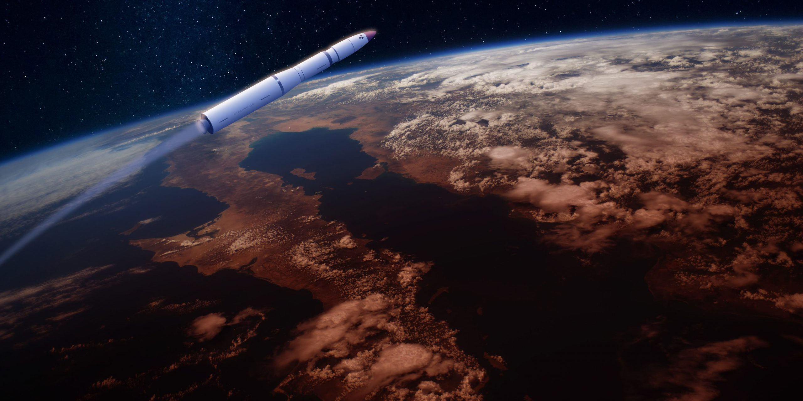 Source: Shutterstock, https://www.shutterstock.com/image-illustration/hypersonic-missile-rocket-over-apocalyptic-earth-1050991484