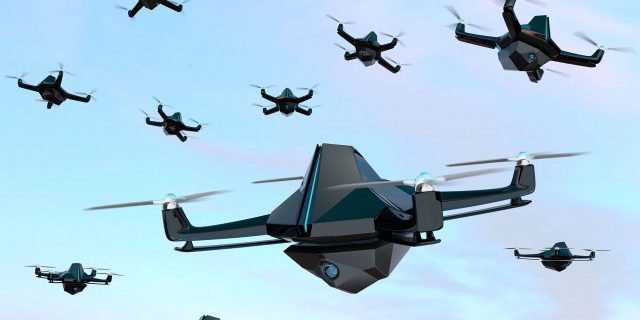 [Artist's Concept] Army researchers develop a reinforcement learning approach called Hierarchical Reinforcement Learning that will allow swarms of unmanned aerial and ground vehicles to optimally accomplish various missions while minimizing performance uncertainty on the battlefield (Shutterstock).